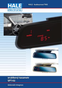 Zrcátkový taxametr SPT-02 - produktový list (pdf)
