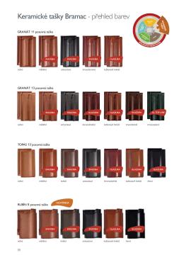 Keramické tašky Bramac - přehled barev
