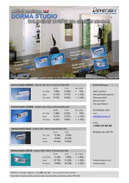 Dorma Studio RONDO - Kalené sklo: 8mm čiré/satináto bílé Další