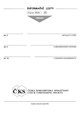 Číslo 42 - Česká koksárenská společnost
