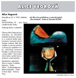 ALICE VEGROVÁ - galerie Chagall