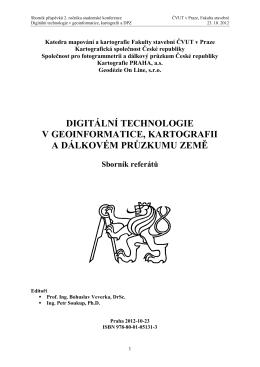 URL - Digitální technologie v geoinformatice, kartografii a dálkovém