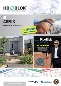 CENÍK betonová cihla KB KLASIK - KB