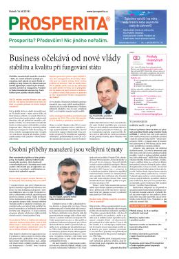 Business očekává od nové vlády