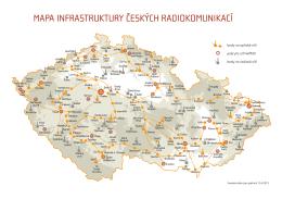 MAPA INFRASTRUKTURY ČESKÝCH RADIOKOMUNIKACÍ