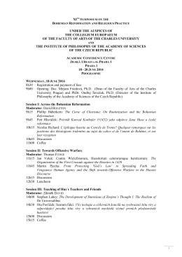 Program - Collegium Europaeum