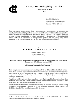 3439-ID-C - Český metrologický institut