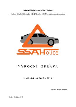 Výroční zpráva 2012/13 - SŠ automobilní Holice