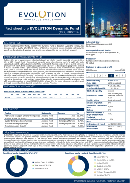 08 2014 EVOLUTION Dynamic Fund