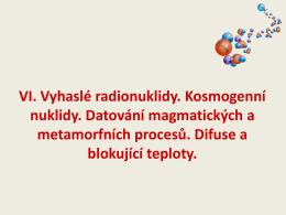 Kosmogenní nuklidy – 14C