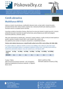 Multifunkce - Inertní tryskací materiály / abraziva