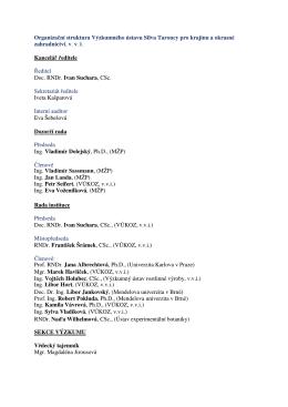 Organizační struktura v PDF - Výzkumný ústav Silva Taroucy pro