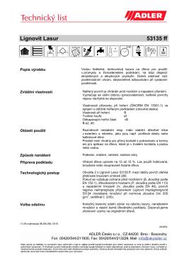technický list 1