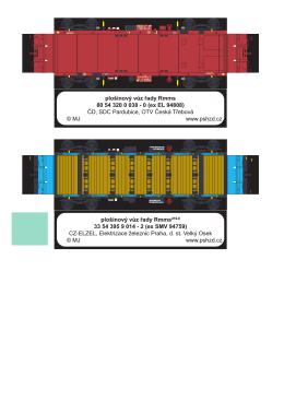 plošinový vůz řady Rmms 80 54 320 0 038 - 0 (ex EL - K