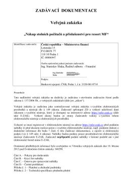 ZADÁVACÍ DOKUMENTACE-PC.pdf - Ministerstvo financí - E-ZAK