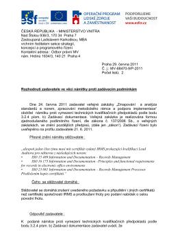 Rozhodnutí zadavatele o námitce - Oznámeníx.pdf