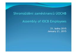 Shromáždění zaměstanců UOCHB