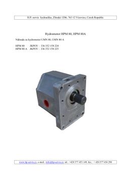 Hydromotor HPM 80, HPM 80A