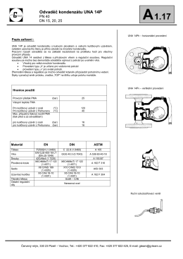 Odvaděč kondenzátu UNA 14P - G