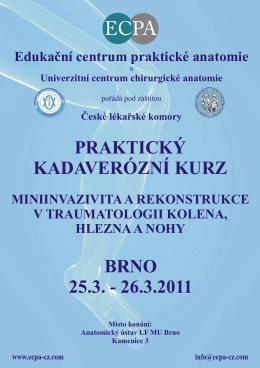 Program kurzu ke stažení - Edukační centrum praktické anatomie
