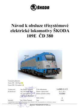 Návod k obsluze třísystémové elektrické lokomotivy