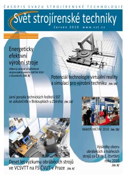 Svět strojírenské techniky číslo 1/2010 (PDF, 7.55 MB)