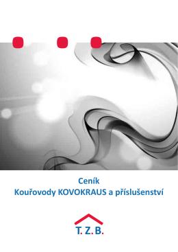Ceník Kouřovody KOVOKRAUS a příslušenství - tzb