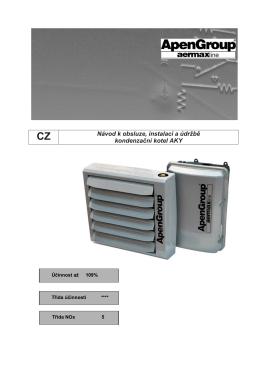 Návod k obsluze, instalaci a údržbě kondenzační kotel AKY