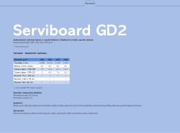 Technical Data Sheet Serviboard