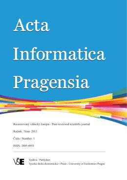 01/2013 - Acta Informatica Pragensia