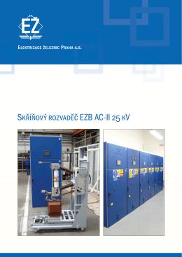 Skříňový rozvaděč EZB AC-II 25 kV
