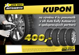 na výměnu 4 ks pneumatik v síti Auto Kelly