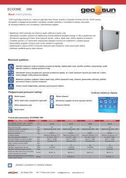 Nová jednotka pro vytápění