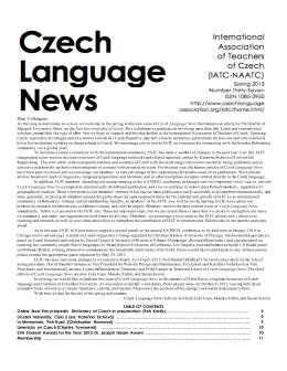 Czech Language News - Bohemicum Regensburg