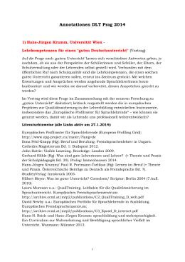 Annotationen DLT Prag 2014