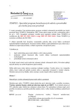 TEMPEX katalog 2012 překlad čj.