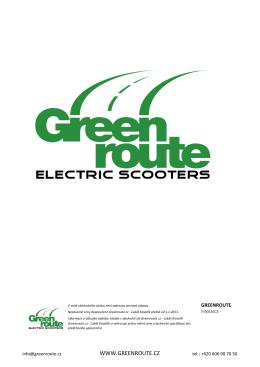 ceník - Greenroute
