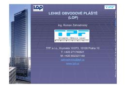 Lehké obvodové pláště (LOP) (.pdf)