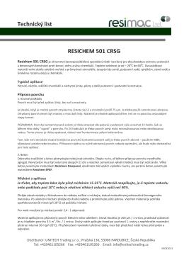 RESIMAC Resichem 501 CRSG