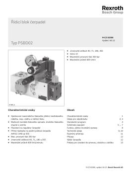 Řídicí blok čerpadel Typ PSBD02