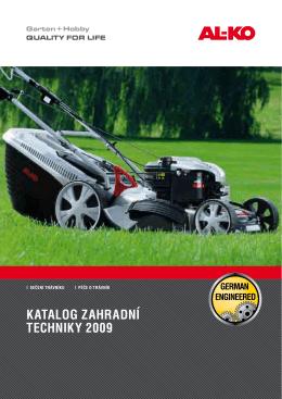 Katalog zahradní techniKy 2009