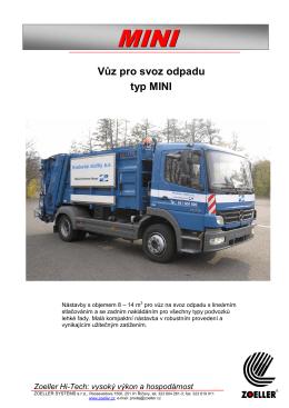 Vůz pro svoz odpadu typ MINI