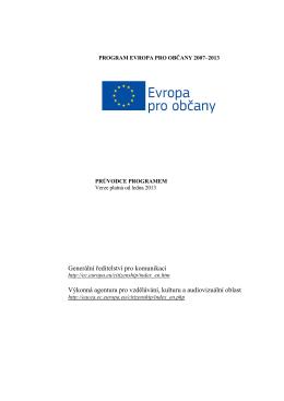 Program Evropa pro občany 2007 – 2013 - EACEA