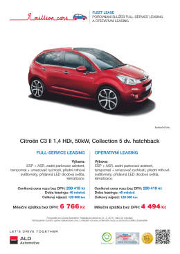 Citroën C3 - ALD Automotive Operational Leasing Solutions