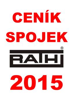Ceník spojek RATHI 2015