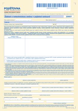 Žádost o netechnickou změnu v pojistné smlouvě