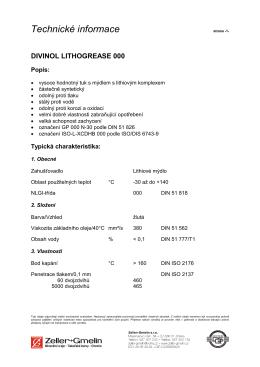 Technické informace - Oel