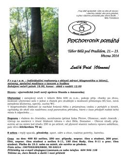 23. 3. Psychotronik pomáhá Luděk (L. Poisl, Olomouc)