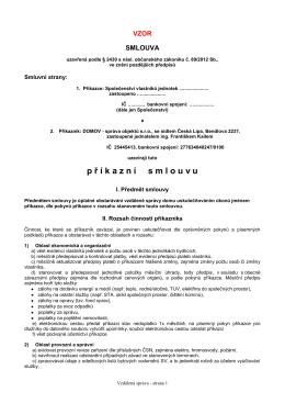 Příkazní smlouva - DOMOV