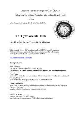 XX. Cytoskeletální klub